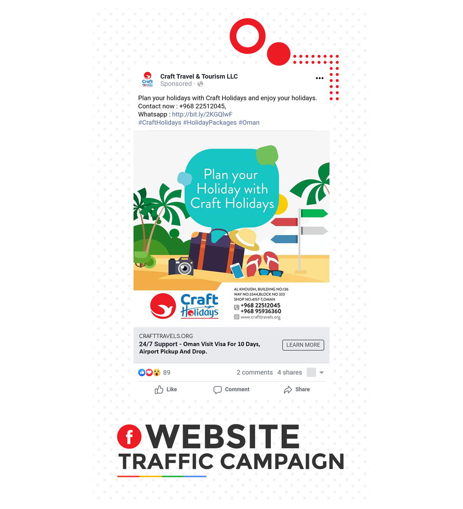 Facebook Website Traffic Campaign