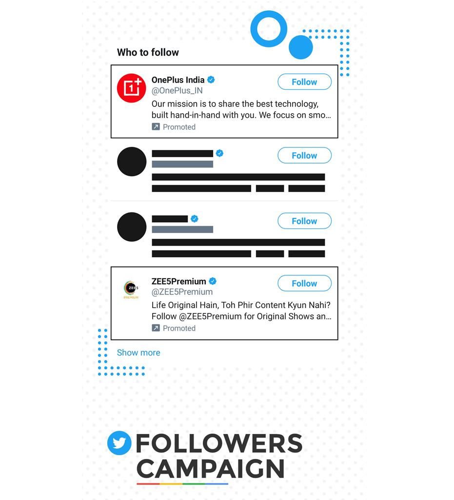 Twitter follower campaign