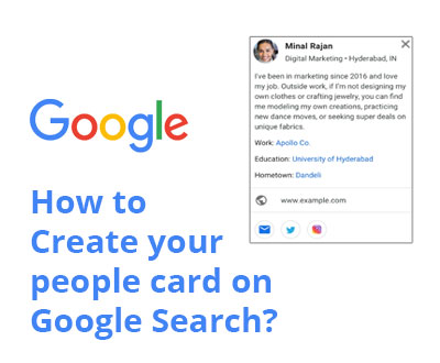How to Create your people card on Google Search
