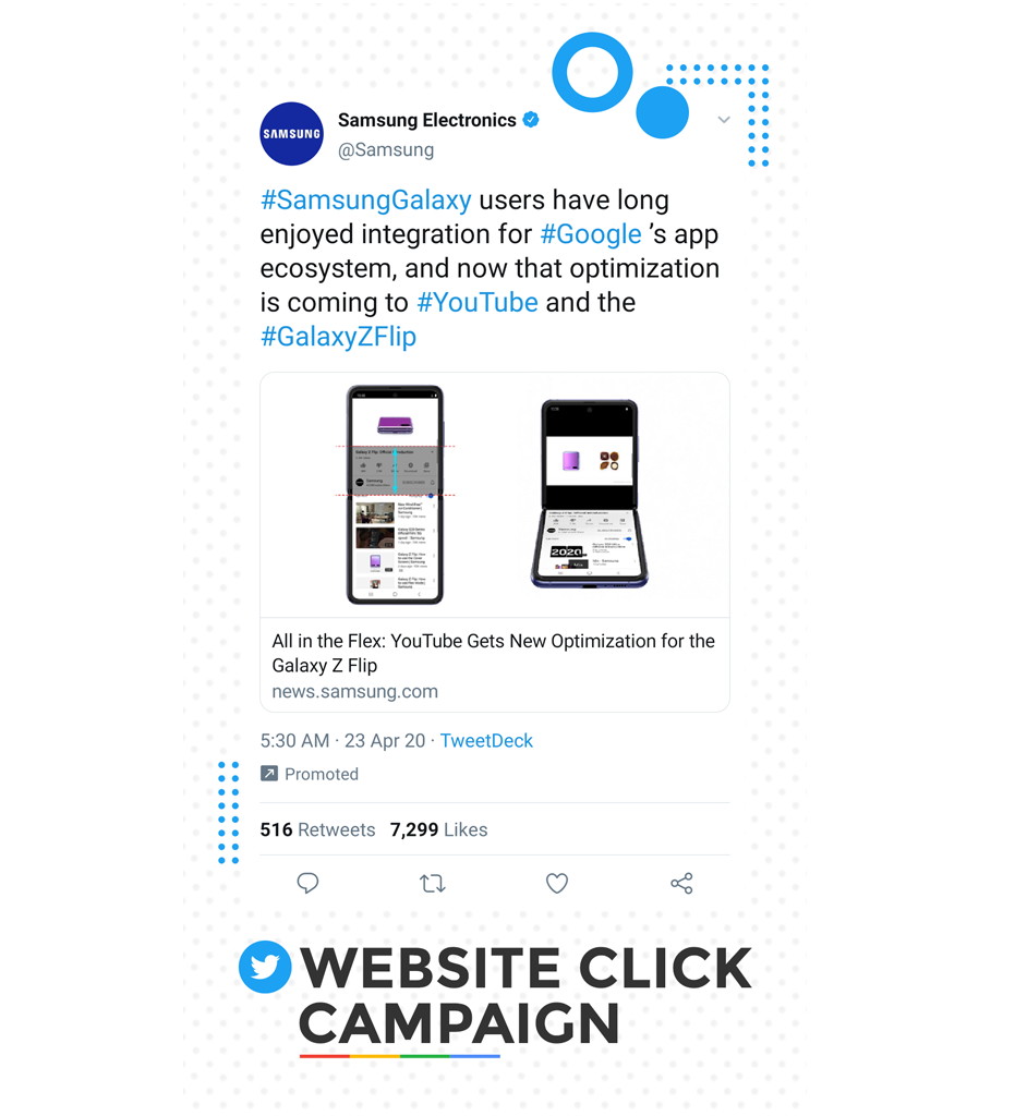twitter website click campaign